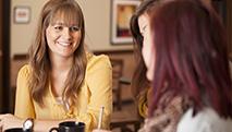 professional Christian women talking