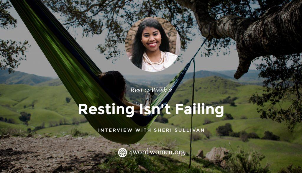 resting isn't failing